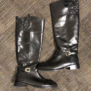 TORY BURCH black riding boots!